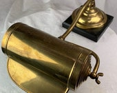 Vintage Brass Piano Lamp Roll Top desk Lamp.
