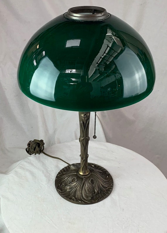 Art Nouveau Cased Glass Dome Table Lamp Circa 1900