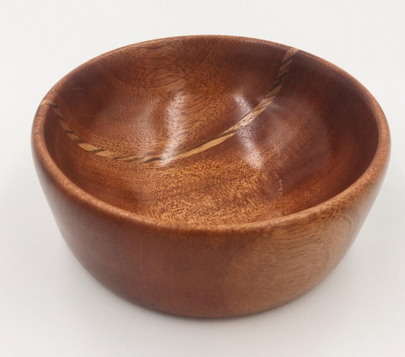 Sapele / Zebrawood Wood bowl / Catch All