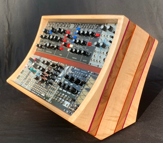 Custom Hardwood 6U 84HP Eurorack Case / Stand with Power