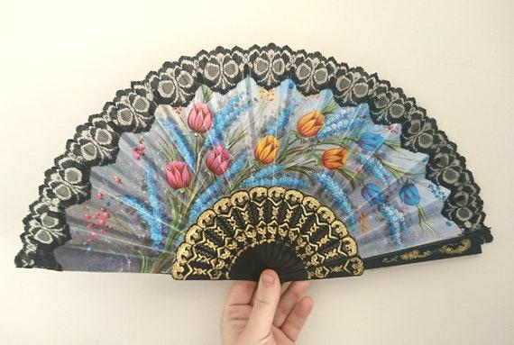 Spanish Flower Lace Folding Hand Dancing Wedding Party Decor Fan Xmas Newest SE