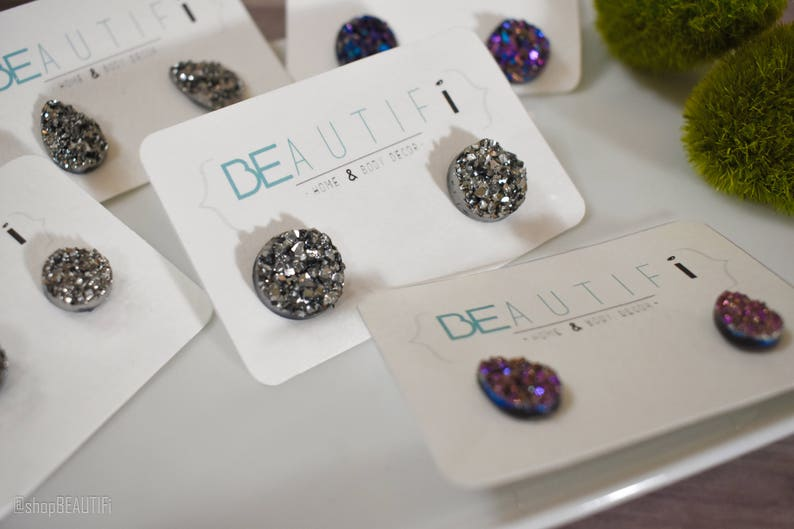aeceabaa3 Studs druzy faux stone acrylic gems holiday earrings | Etsy