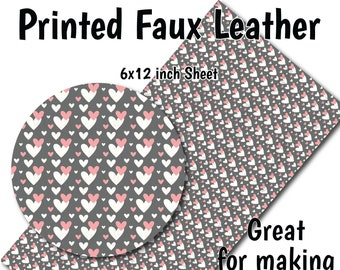 Heart 8x11 Faux Leather B1-130 Valentine/'s Day Glitter Heart Faux Leather Sheets,Valentine A4 Vinyl Fabric Sheet