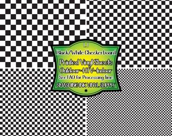 26aac796 Black White Checkerboard Vinyl/Printed Heat Transfer Vinyl/Pattern Vinyl/Printed  651 Vinyl/Printed Outdoor Vinyl/Printed HTV