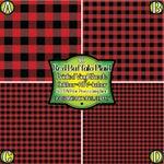 Red Buffalo Plaid Vinyl/Printed Heat Transfer Vinyl/Patterned Vinyl/Printed 651 Vinyl/Printed 631 Vinyl/Printed Outdoor Vinyl/Printed HTV