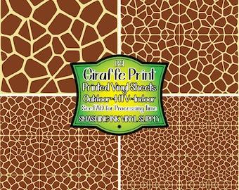 Giraffe Print Vinyl Etsy