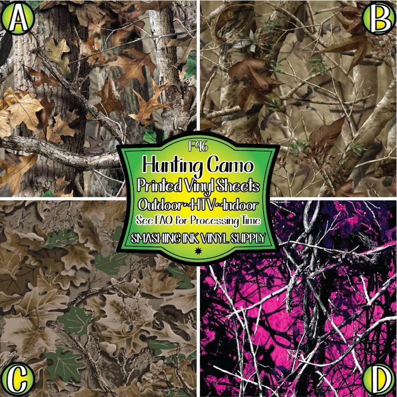Hunting Camo Vinyl/Printed Heat Transfer Vinyl/Patterned image 0