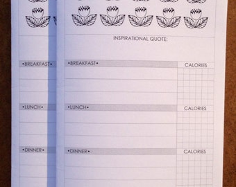 Food + Fitness Journal (DO1P) Traveler's Notebook Insert - Choose Your Size