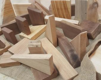 Wood Building Blocks Etsy