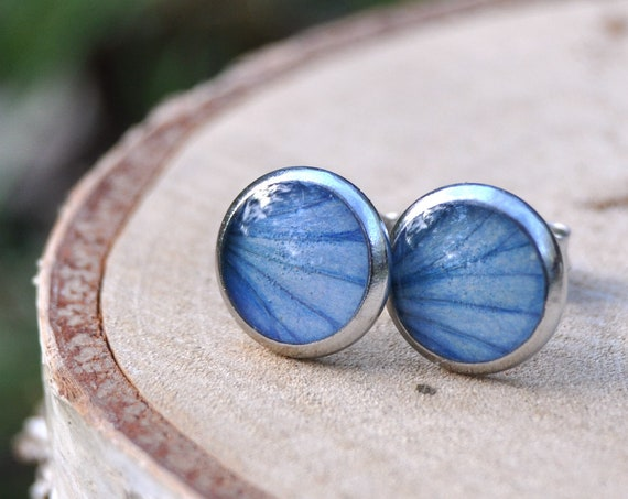 Blue Hydrangea Studs