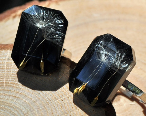 Octagonal Dandelion Seed Ring