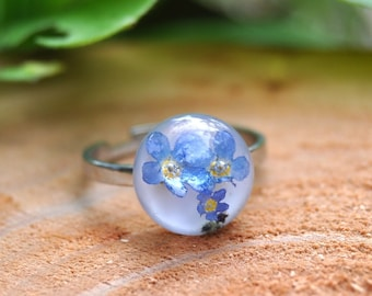 Forget-Me-Not Stacking Ring