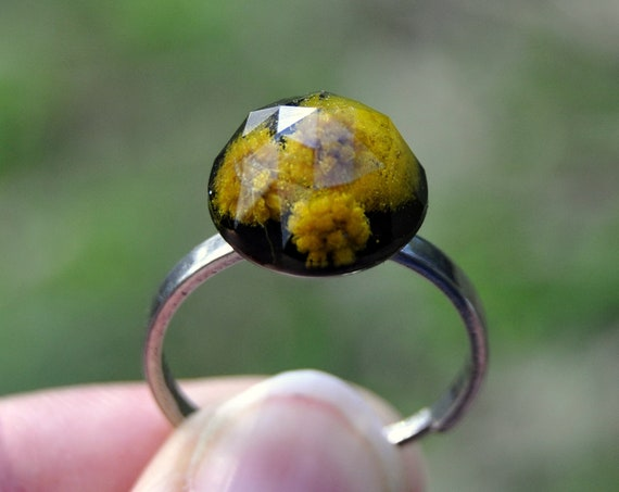 Golden Wattle Resin Stacking Ring