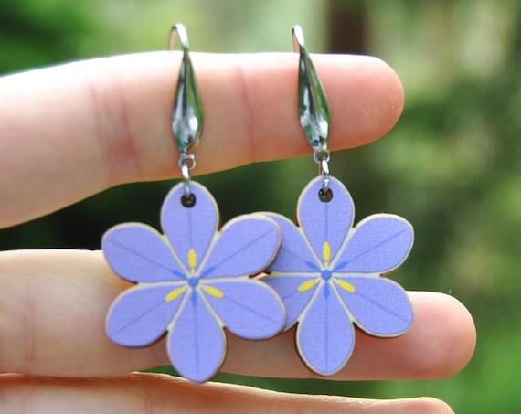 Purple Morning Iris Earrings