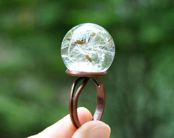 Dandelion Sphere Ring