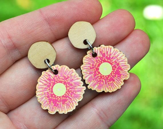 Pink Gum Blossom Earrings