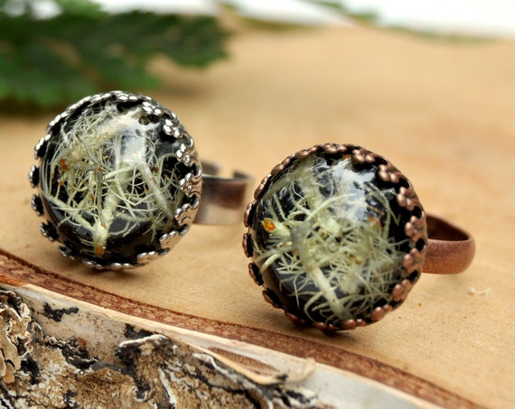 Lichen Crown Ring