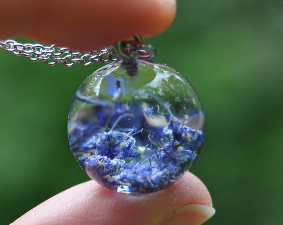 Resin Sphere Necklace - Wild Lilac - 17 mm