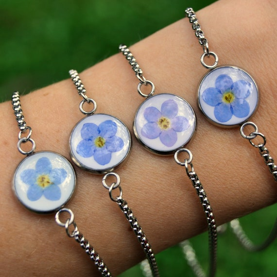 Forget-Me-Not Bracelet (Adjustable)