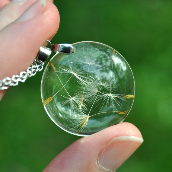 Round Dandelion Seed Necklace