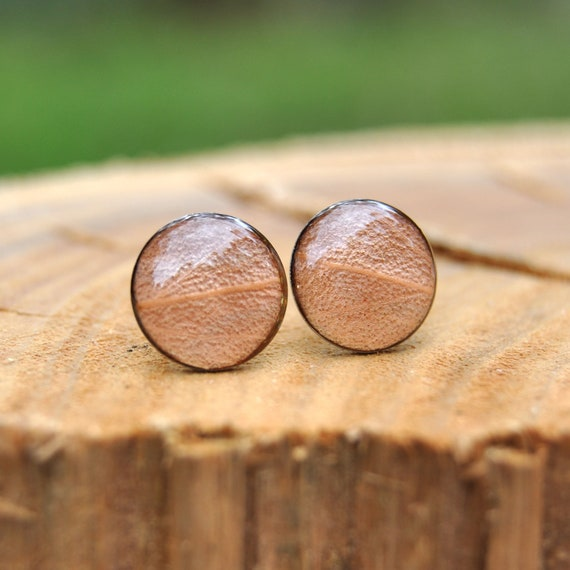 Eucalyptus Leaf Stud Earrings