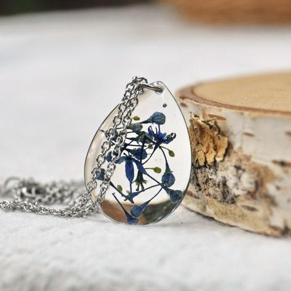 Hydrangea Flower Drop Necklace