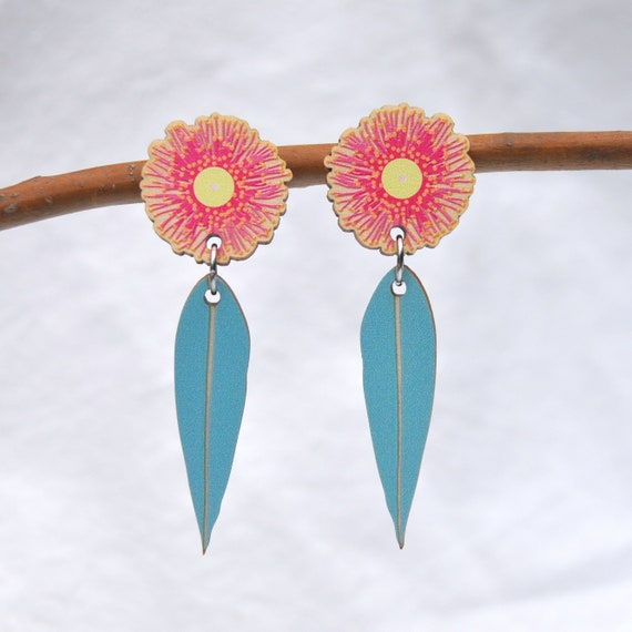 Pink Flowering Gum Earrings