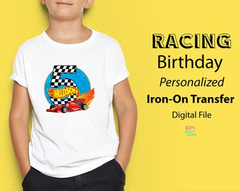 8e0d405f8 Hot Wheels T-shirt Iron-On Transfer Personalized, Hot Wheels Party, Race Car  Birthday T-shirt Iron-On, Digital Printable, Racing Shirt