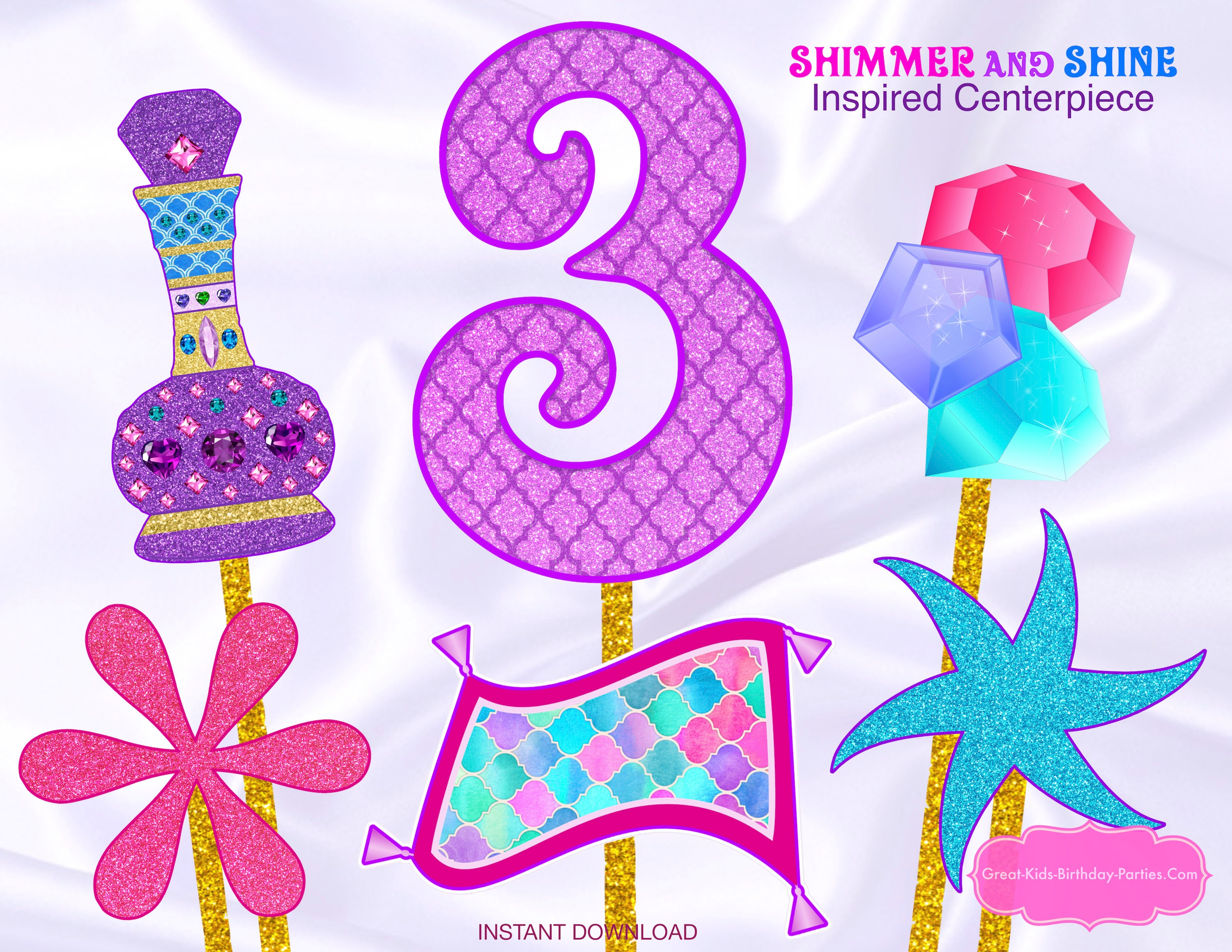 Shimmer and Shine Cumpleaños Shimmer and Shine Fiesta