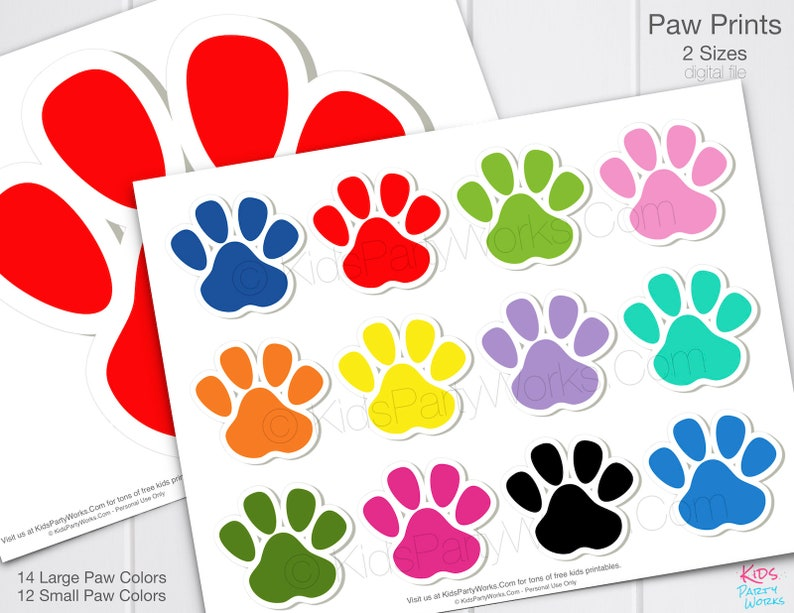 picture relating to Free Printable Paw Prints titled PAW PATROL PAW Prints - Paw Patrol Birthday - Paw Patrol Social gathering - Paw Patrol Decorations - Paw Patrol Photograph Booth Props - Paw Patrol Video games