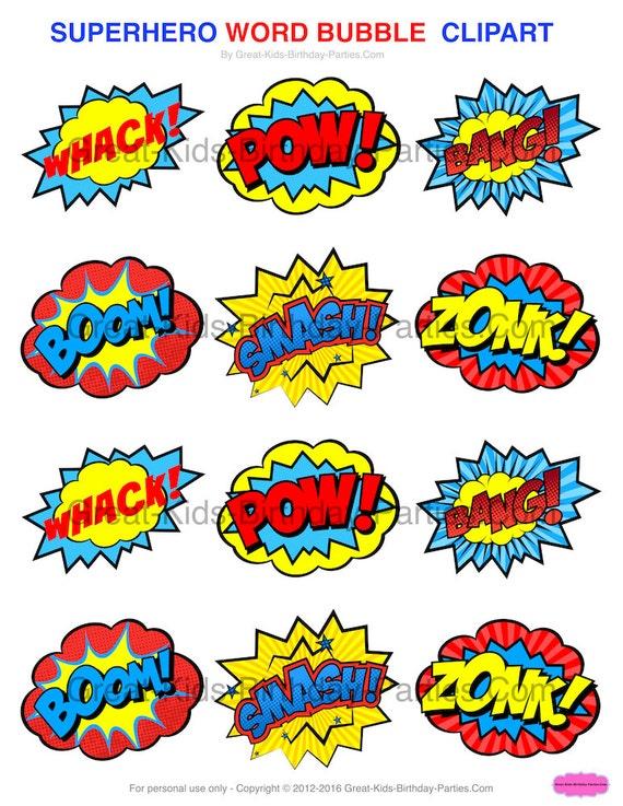 SUPERHERO STICKERS Superhero CLIPART Printables