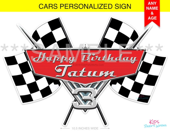 Disney Cars Geburtstag Zeichen Disney Cars Personalisierte Etsy