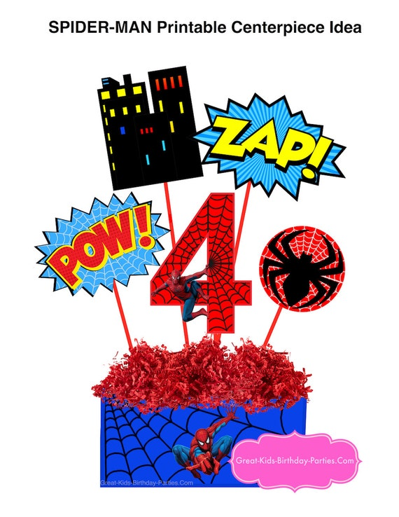 graphic about Spiderman Printable called SPIDERMAN PRINTABLE Range 10 Centerpiece-Immediate Down load. Spiderman Birthday. Spiderman Clipart. Spiderman Get together Resources. Spiderman Occasion