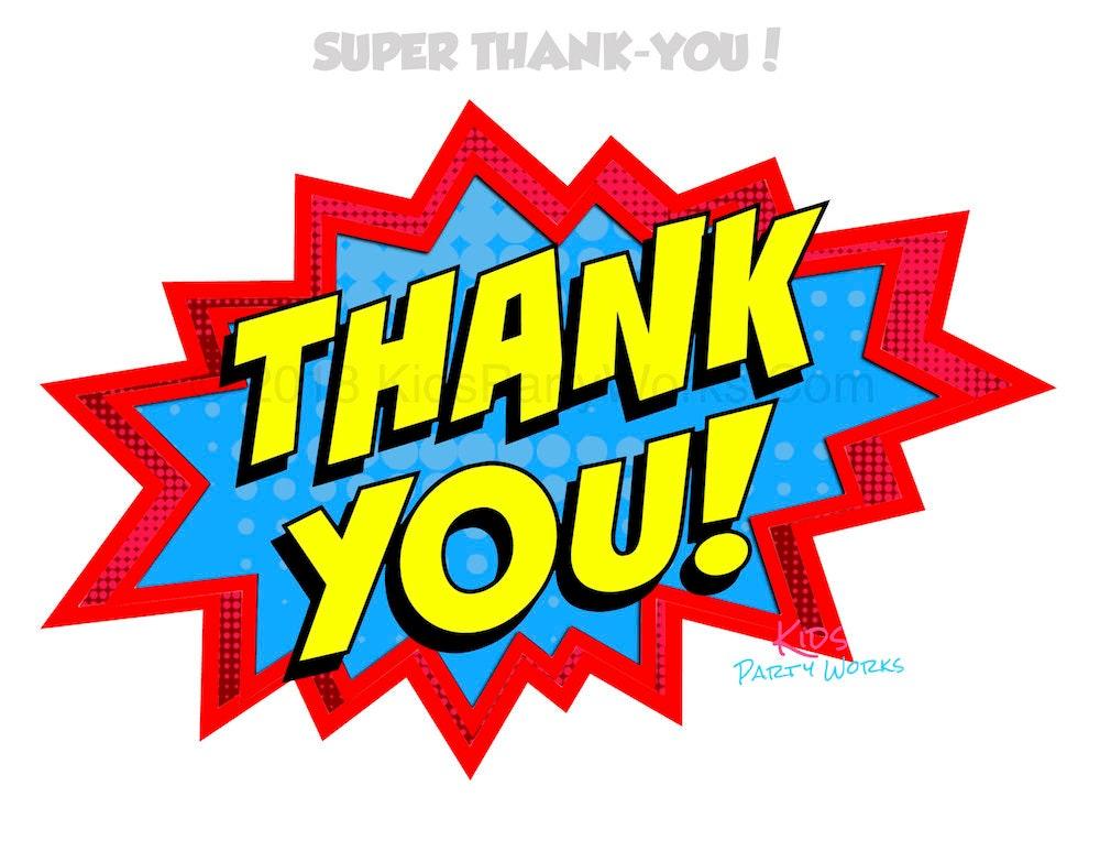 Superhero Thank You Sign Superhero Sign Superhero Party Etsy