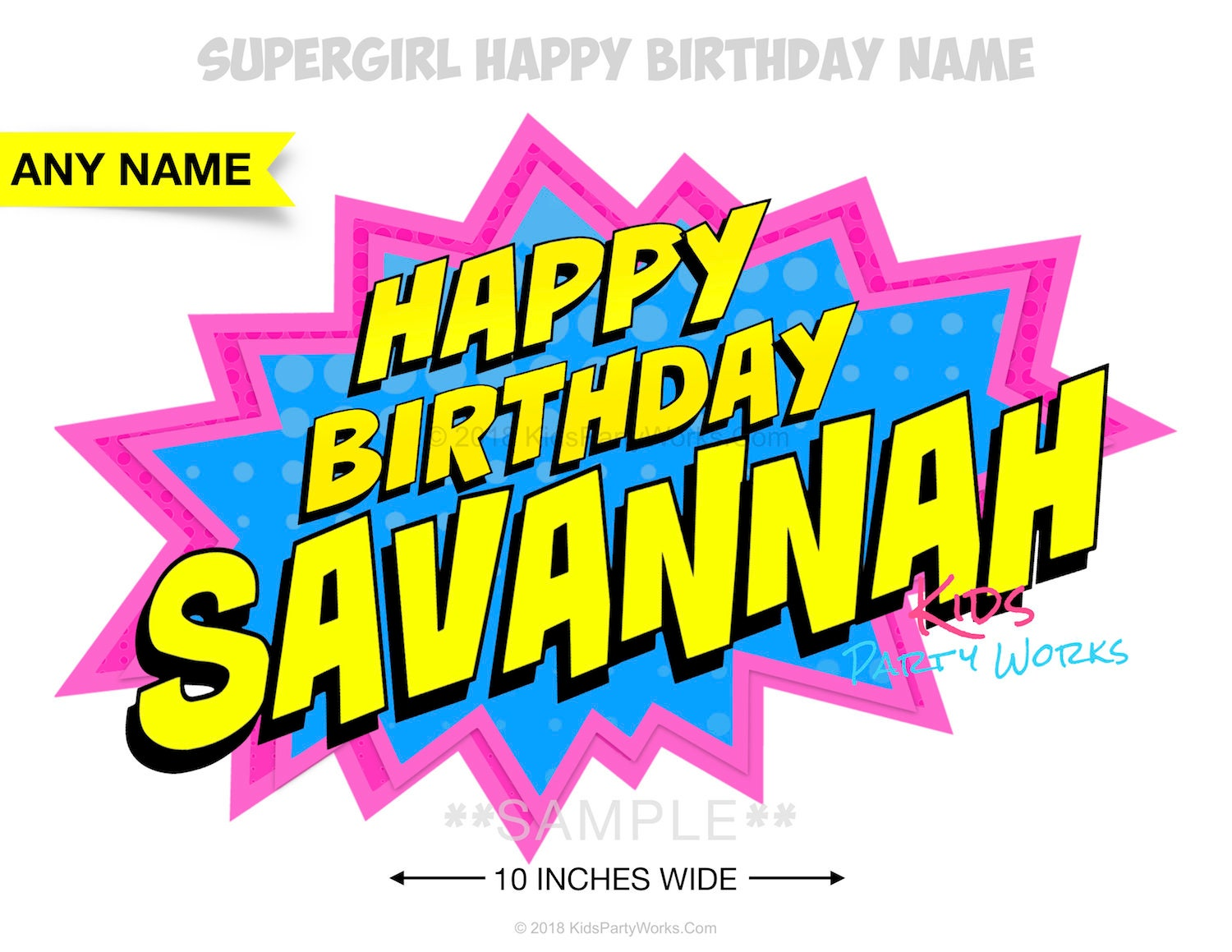 Supergirl Birthday Sign Party Etsy Jpg 1500x1159 Happy Banner