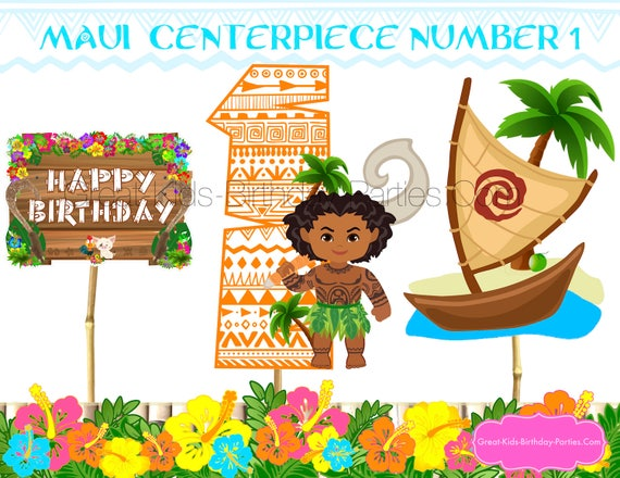 MOANA MAUI PARTY Maui Centerpiece Party Supplies