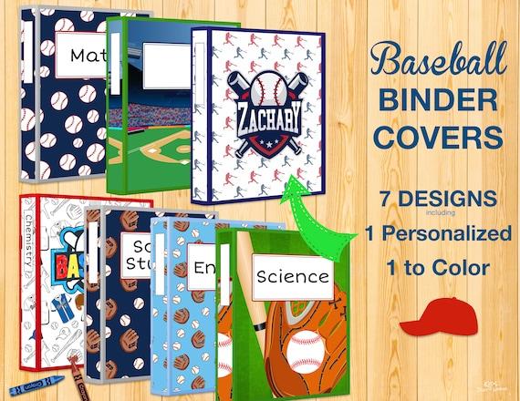 graphic regarding Printable Binder Covers for School named PRINTABLE BINDER Handles-1 Tailored Binder Deal with-Baseball