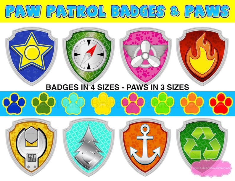 photo regarding Paw Patrol Badges Printable titled PAW PATROL BADGES Paws - Paw Patrol Birthday - Paw Patrol Decorations - Paw Patrol Occasion - Paw Patrol Image Booth Props - Paw Patrol Video games