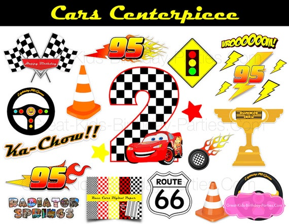 Disney CARS Birthday Centerpiece Cars Decorations