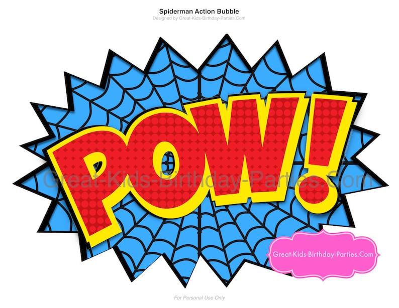 SPIDERMAN PRINTABLE NUMBER 10 Centerpiece-Instant Download Spiderman Birthday Spiderman Clipart Spiderman Party Spiderman Party Supplies