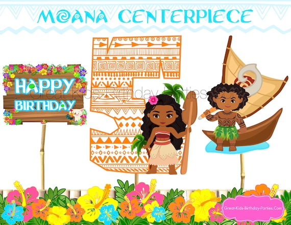 graphic regarding Printable Moana called MOANA Centerpiece - Moana Printable Centerpiece - Moana Bash Materials - Moana Birthday - Moana Decorations - Moana Printables - Moana 5
