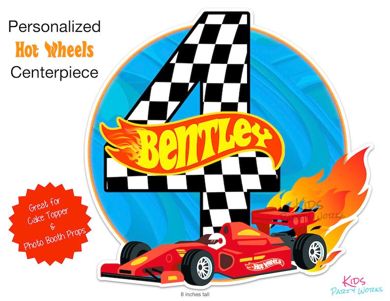 Decoraciones De Hot Wheels Feliz Cumpleanos Hot Wheels Etsy