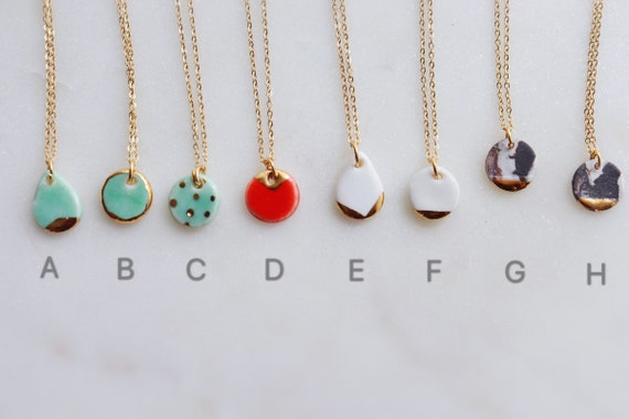 Dainty porcelain necklaces