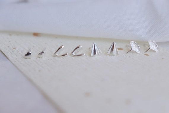Sterling  mini studs / minimalist,everyday jewelry