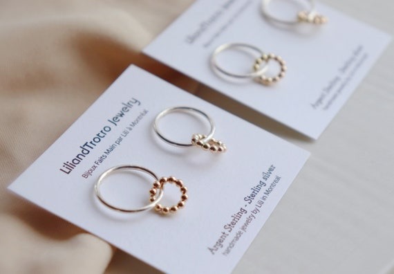 Double circle goldfilled / silver studs