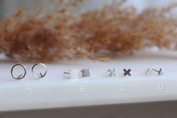 Silver  mini studs / silver posts