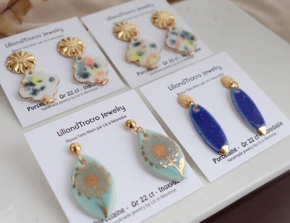 New   porcelain  earrings