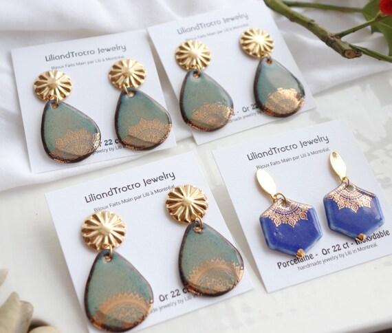 New Mandala dangle earrings