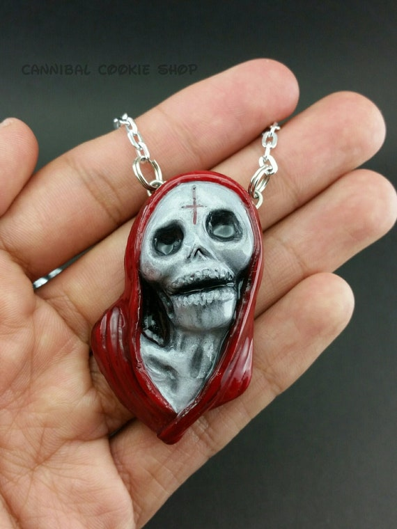 Grim Reaper Necklace Holy Death Satanic Death Necklace Satanic Etsy
