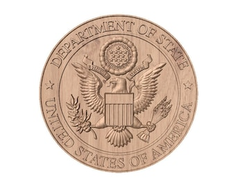 Department of State Seal   STL 3D Model File for CNC Router